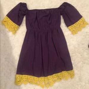 Purple Gold Game Day Dress